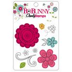 Bo Bunny Press - Petal Pushers Collection - Clear Acrylic Stamps - Petal Pushers
