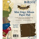 Bo Bunny Press - Cambridge Collection - Mini Edgy Album Paper and Die Cut Pad - 6.25 x 7.25