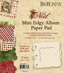 Bo Bunny Press - Noel Collection - Christmas - Mini Edgy Album Paper and Die Cut Pad - 6.25 x 7.25