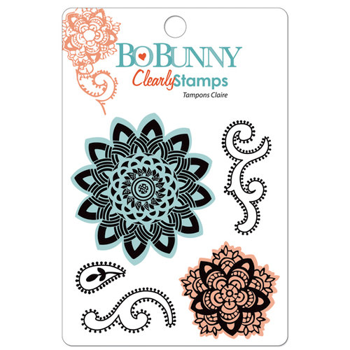 Bo Bunny Press - Gypsy Collection - Clear Acrylic Stamps - Sunburst, CLEARANCE