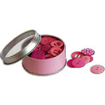 Bo Bunny Press - All Stuck Up - Magnetic Storage Container - Buttons - Pink Punch, CLEARANCE