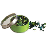 Bo Bunny Press - All Stuck Up - Magnetic Storage Container - Brads - Apple Green, CLEARANCE