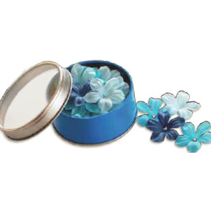 Bo Bunny Press - All Stuck Up - Magnetic Storage Container - Flowers - Brilliant Blue, CLEARANCE