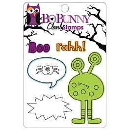 Bo Bunny Press - Whoo-ligans Collection - Halloween - Clear Acrylic Stamps - Whoo-ligans