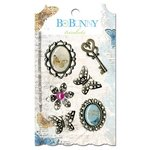 Bo Bunny Press - Country Garden Collection - Metal Embellishments - Trinkets
