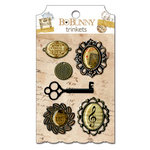 Bo Bunny Press - Et Cetera Collection - Metal Embellishments - Trinkets