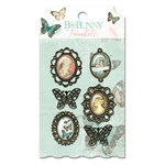 Bo Bunny Press - Gabrielle Collection - Metal Embellishments - Trinkets