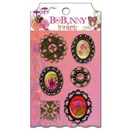 Bo Bunny - Garden Girl Collection - Metal Embellishments - Trinkets