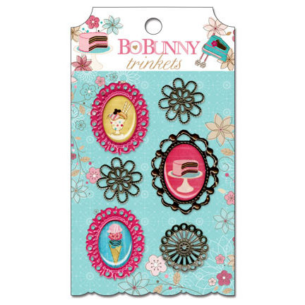 Bo Bunny - Sweet Tooth Collection - Metal Embellishments - Trinkets