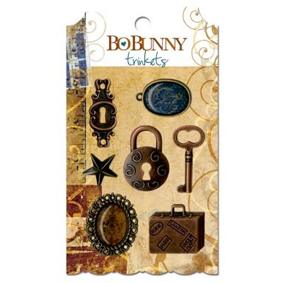 Bo Bunny Press - Weekend Market Collection - Metal Embellishments - Trinkets
