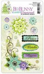 Bo Bunny Press - Winter Joy Collection - Christmas - I Candy 3 Dimensionals - Cardstock Stickers with Glitter Accents
