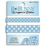 Bo Bunny Press - Double Dot - Wrapped In Ribbon - Brilliant Blue