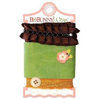 Bo Bunny - Olivia Collection - Ribbon Wraps - Chocolate Ruffle
