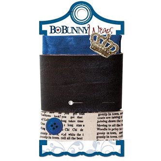 Bo Bunny Press - Cambridge Collection - Ribbon Wraps - Newsprint
