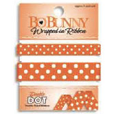 Bo Bunny Press - Double Dot - Wrapped In Ribbon - Orange Citrus, CLEARANCE