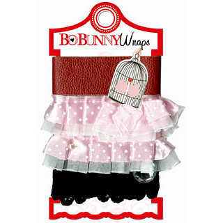 Bo Bunny - Crush Collection - Valentine - Ribbon Wraps - Pink Ruffle