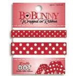 Bo Bunny Press - Double Dot - Wrapped In Ribbon - Wild Berry