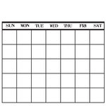Canvas Corp - 12 x 12 Paper - Stamped Calendar - Black and White