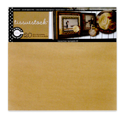 Canvas Corp - Tissuestock Collection - 12 x 12 Tissue Paper Pack - Kraft