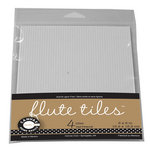 Canvas Corp - 6 x 6 Paper Pack - E-Flute Corrugated Tiles - White