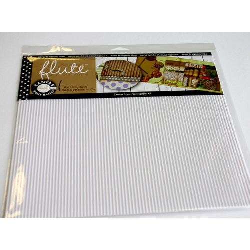 Canvas Corp - 12 x 12 Corrugated Paper - E-Flute Tile - White