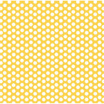 Canvas Corp - Yellow and White Collection - 12 x 12 Paper - Dot Reverse