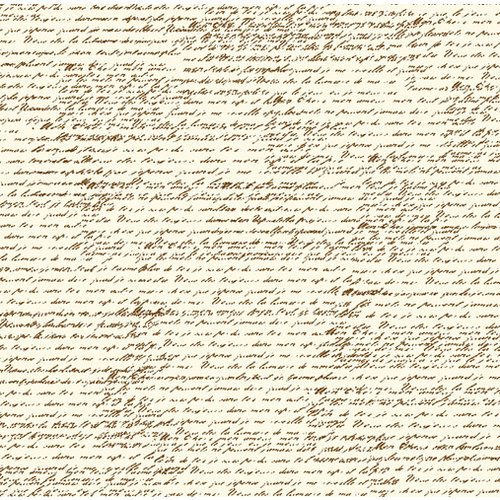 Canvas Corp - Chocolate and Ivory Collection - 12 x 12 Paper - French Script