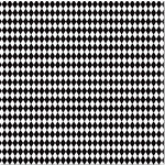 Canvas Corp - Black and White Collection - 12 x 12 Paper - Diamonds