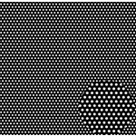 Canvas Corp - Black and White Collection - 12 x 12 Paper - Mini Dot Reverse
