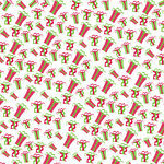 Canvas Corp - Christmas - 12 x 12 Paper - Gifts on White