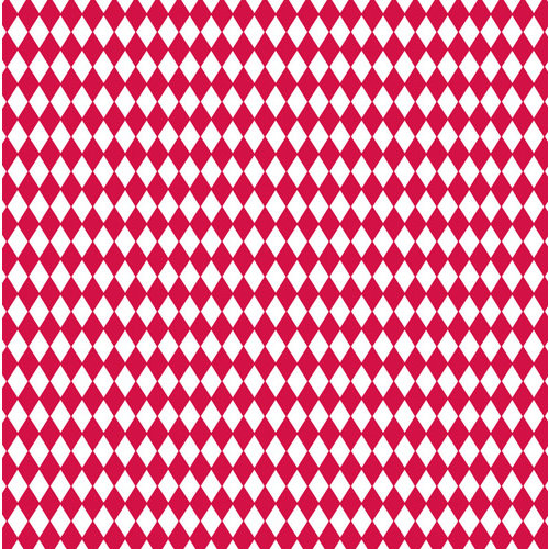 Canvas Corp - Red and White Collection - 12 x 12 Paper - Diamonds