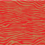 Canvas Corp - Red and Kraft Collection - 12 x 12 Paper - Zebra