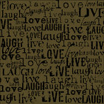 Canvas Corp - Black and Kraft Collection - 12 x 12 Paper - Live Love Laugh