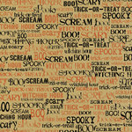 Canvas Corp - Halloween - 12 x 12 Paper - Spooky Words on Kraft