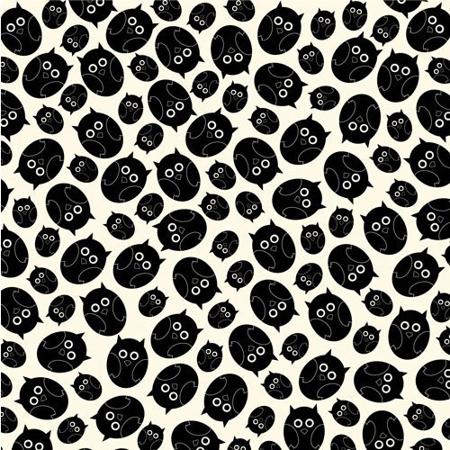 Canvas Corp - Black and Ivory Collection - 12 x 12 Paper - Owls