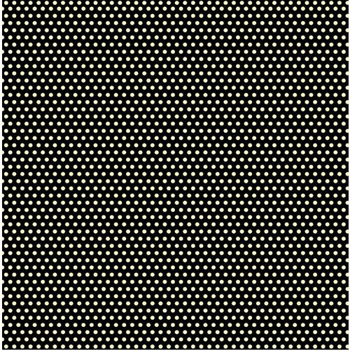 Canvas Corp - Black and Ivory Collection - 12 x 12 Paper - Mini Dot Reverse