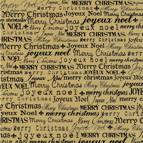 Canvas Corp - Black and Kraft Collection - 12 x 12 Paper - Merry Christmas