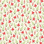 Canvas Corp - Christmas - 12 x 12 Paper - Sassy Trees on Ivory