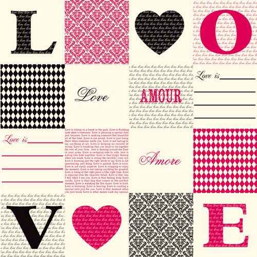 Canvas Corp - 12 x 12 Paper - Love, Amoure, Amore