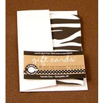 Canvas Corp - Gift Cards and Envelopes - Black and White - Zebra