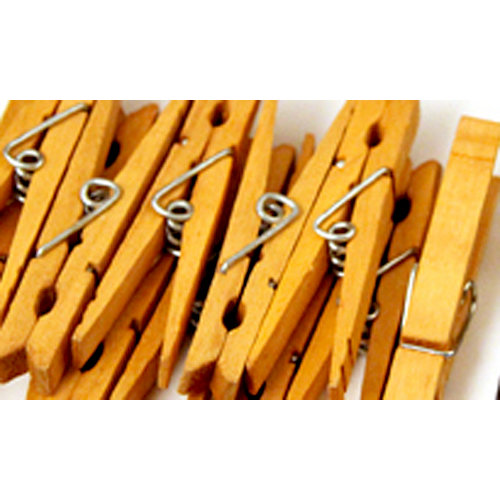 Canvas Corp - Decorative Clothespins - Warm Brown