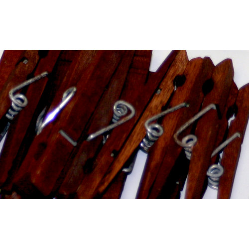 Canvas Corp - Decorative Clothespins - Merlot