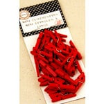 Canvas Corp - Mini Clothespins - Red