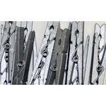 Canvas Corp - Decorative Clothespins - Silver
