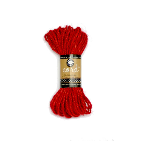 Canvas Corp - Hemp Cord - Red - 45 Feet