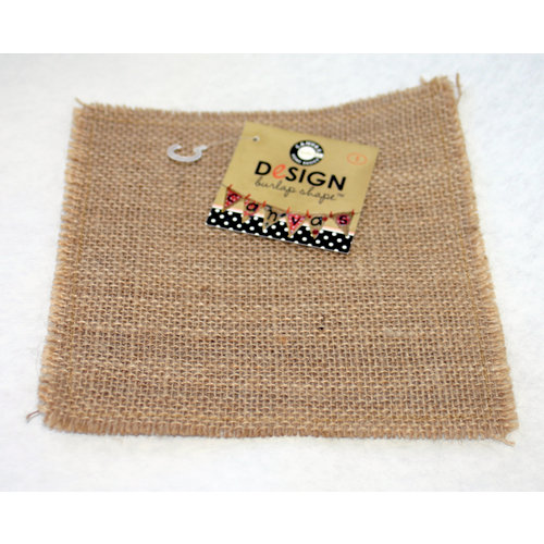 Canvas Corp - Burlap Shapes - Square