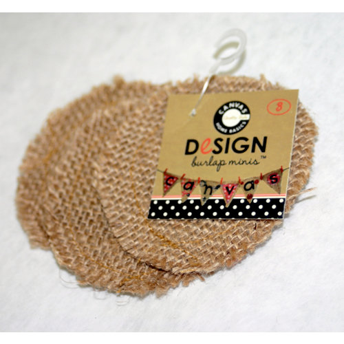 Canvas Corp - Burlap Shapes - Mini - Round