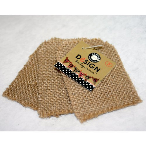 Canvas Corp - Burlap Shapes - Mini - Tag