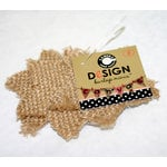 Canvas Corp - Burlap Shapes - Mini - Star