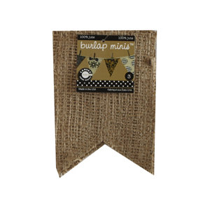 Canvas Corp - Burlap Shapes - Mini - Flags